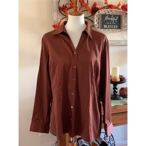 NWT CHICO'S Additions Porter Button Down Top